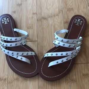 Tory Burch Patos leather Studded sandal. 7.5